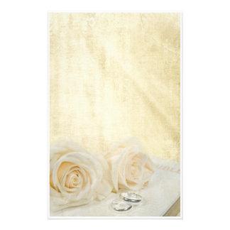 Wedding Roses Customized Stationery