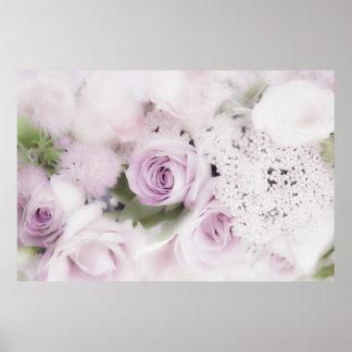 Wedding roses floral arrangement poster