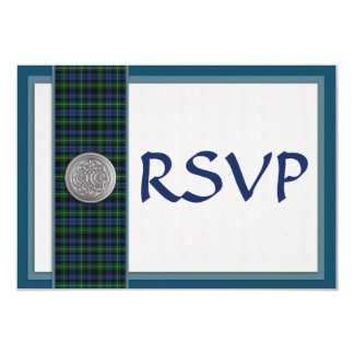 Wedding RSVP Campbell of  Argyll Tartan Plaid Card