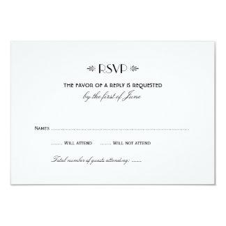Wedding RSVP Card 1 | Art Deco Elegant Style 9 Cm X 13 Cm Invitation Card