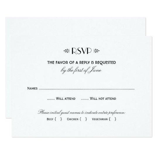 plain rsvp cards