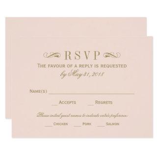 Wedding RSVP Card | Antique Gold Flourish 9 Cm X 13 Cm Invitation Card