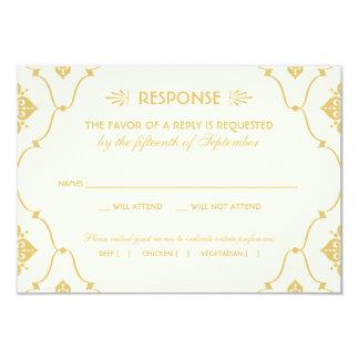 Wedding RSVP Card | Art Deco Style 9 Cm X 13 Cm Invitation Card