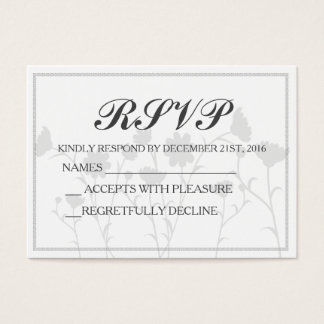 Wedding RSVP Card - Custom - Chic - Elegant