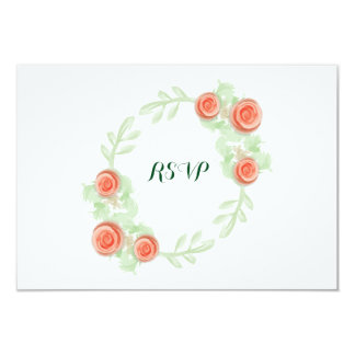 Wedding RSVP Card - Floral Rose Border - Bridal