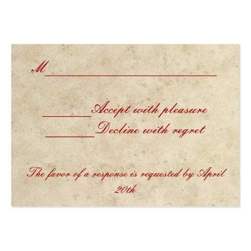Wedding RSVP Card - Love Always Love Deep Business Card Template