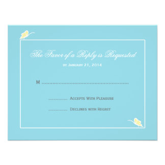 Wedding RSVP Cards Announcements