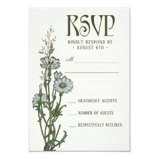 Wedding RSVP Cards | Floral Art Nouveau