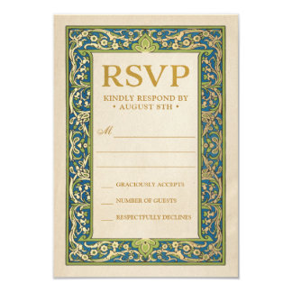 Wedding RSVP Cards | Illuminated Garden Collection