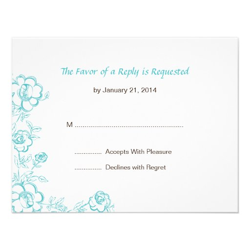 Wedding RSVP Cards Personalized Invite