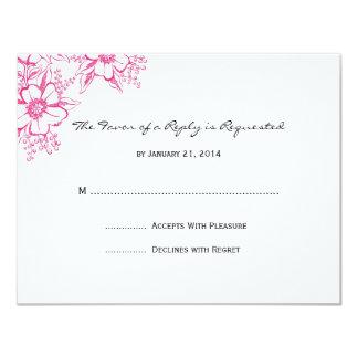 "Wedding RSVP Cards 4.25"" X 5.5"" Invitation Card"