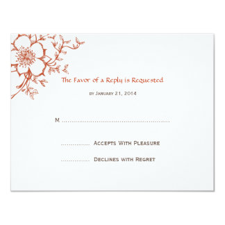 Wedding RSVP Cards Personalized Invitation