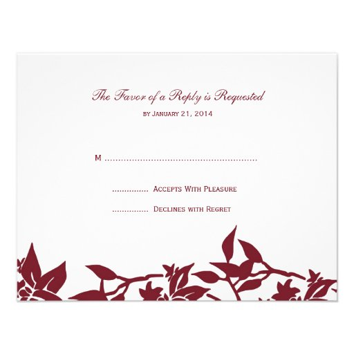Wedding RSVP Cards Personalized Announcement