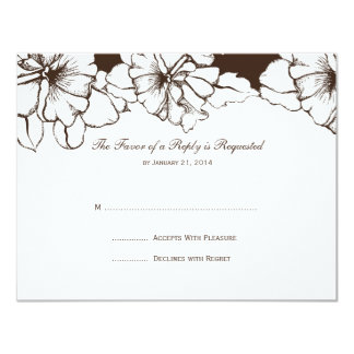 Wedding RSVP Cards Announcement