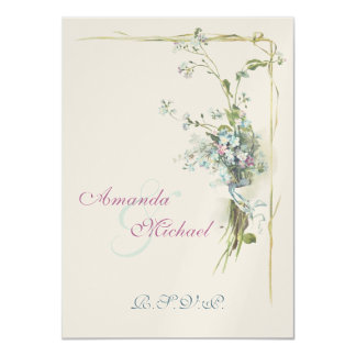 Wedding RSVP forget me nots Card