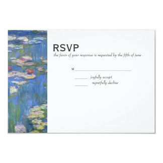 Wedding RSVP // Monet Waterlilies Card