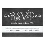 Wedding RSVP Postcard | Black Chalkboard Charm 9 Cm X 13 Cm Invitation Card