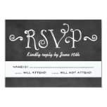 Wedding RSVP Postcard   Black Chalkboard Charm 9 Cm X 13 Cm Invitation Card
