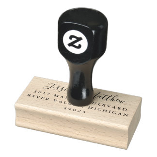 Wedding Rubber Stamp for RSVPs and Thank You Cards