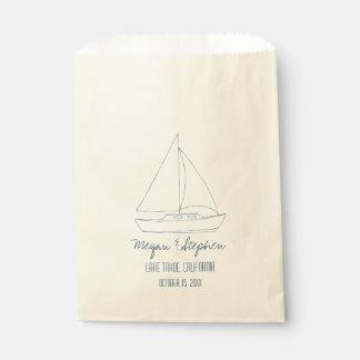 Wedding Sailboat Favour Bag