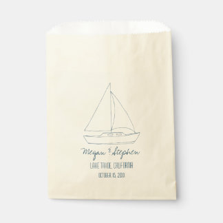 Wedding Sailboat Favour Bags