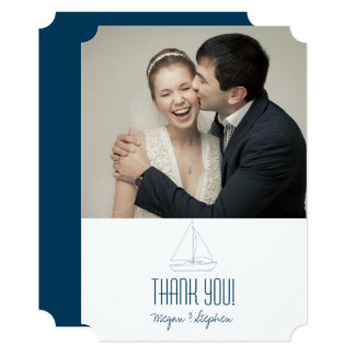 Wedding Sailboat - Thank You Card
