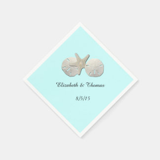 Wedding, Sand Dollar, Starfish, Custom Napkins Paper Serviettes