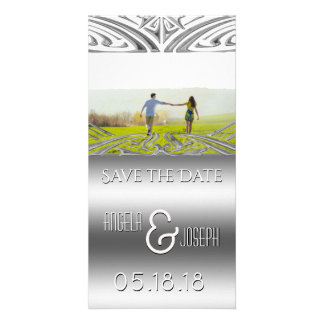 Wedding Save the Date Announcement | Silver Card