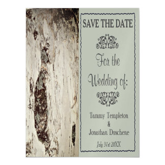 Wedding Save the Date Birch Wood Magnets