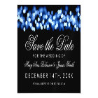 Wedding Save The Date Blue Hollywood Glam Magnetic Card