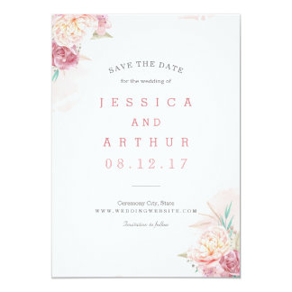Wedding Save the Date | Blush and Blooms Card