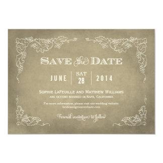 Wedding Save the Date Card   Vintage Wine 13 Cm X 18 Cm Invitation Card