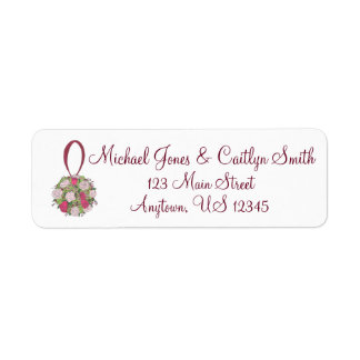 Wedding Save the Date Floral Ball Address Labels