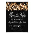 Wedding Save The Date Gold Hollywood Glam Magnetic Card