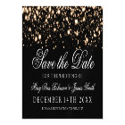 Wedding Save The Date Gold Midnight Glam Magnetic Card