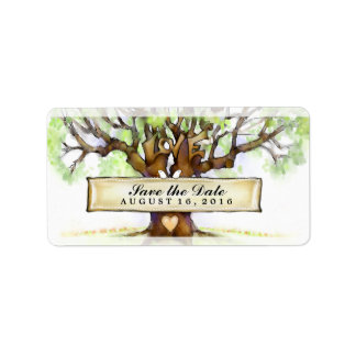 Wedding Save the Date Labels - The Love Tree