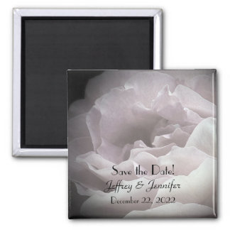 Wedding Save the Date Pale Pink Rose Magnet