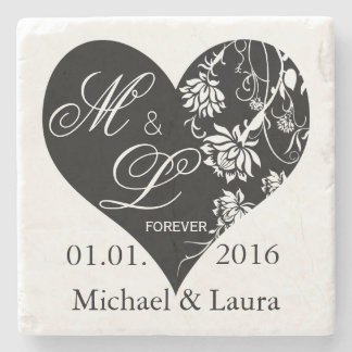 Wedding Save the Date Personalised stone coasters