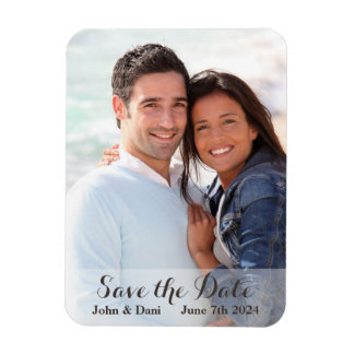 Wedding Save the Date - Simple Script Magnet