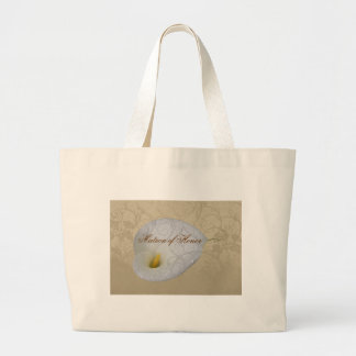 Wedding Save the Date with Dew drop White Lily Bag
