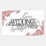 Wedding Seals Rectangular Sticker