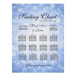 Wedding Seating Chart Blue Winter Wonderland