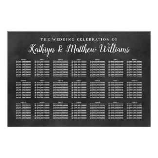 Wedding Seating Chart | Chalkboard Celebration