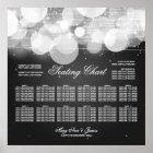 Wedding Seating Chart Glow & Sparkle Black