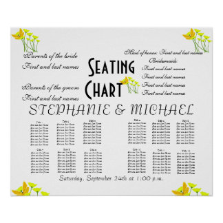 Wedding Seating Chart Poster