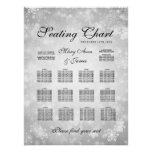Wedding Seating Chart Silver Winter Wonderland