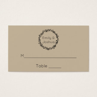 Wedding Seating Simple Template Placecards Business Card