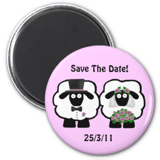 Wedding Sheep Save The Date Magnet