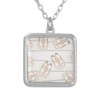 Wedding shoes pattern silver plated necklace
