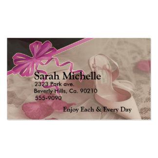 Wedding Shoes Rose Petals Set Pack Of Standard Business Cards